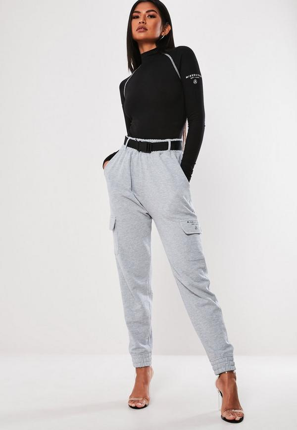 aa1fbe6f7cd Black High Neck Slogan Bodysuit
