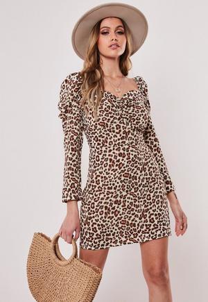 2aa08c19 Plus Size Animal Print Square Neck Mini Dress | Missguided