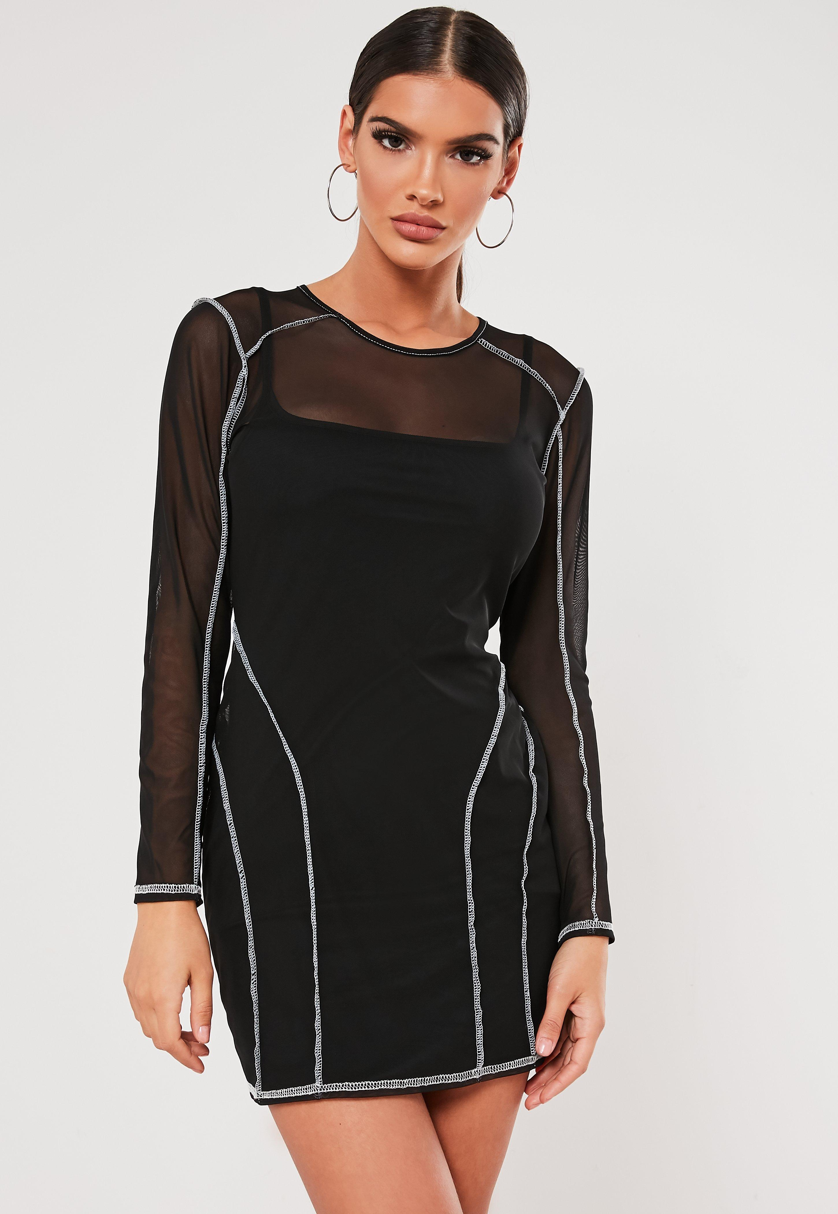 cf096e98f3e4a Robe manches longues pour femme - Missguided