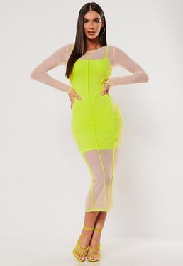 f4f8eafadae3 ... SXF x Missguided Nude Contrast Seam Mesh Midaxi Dress