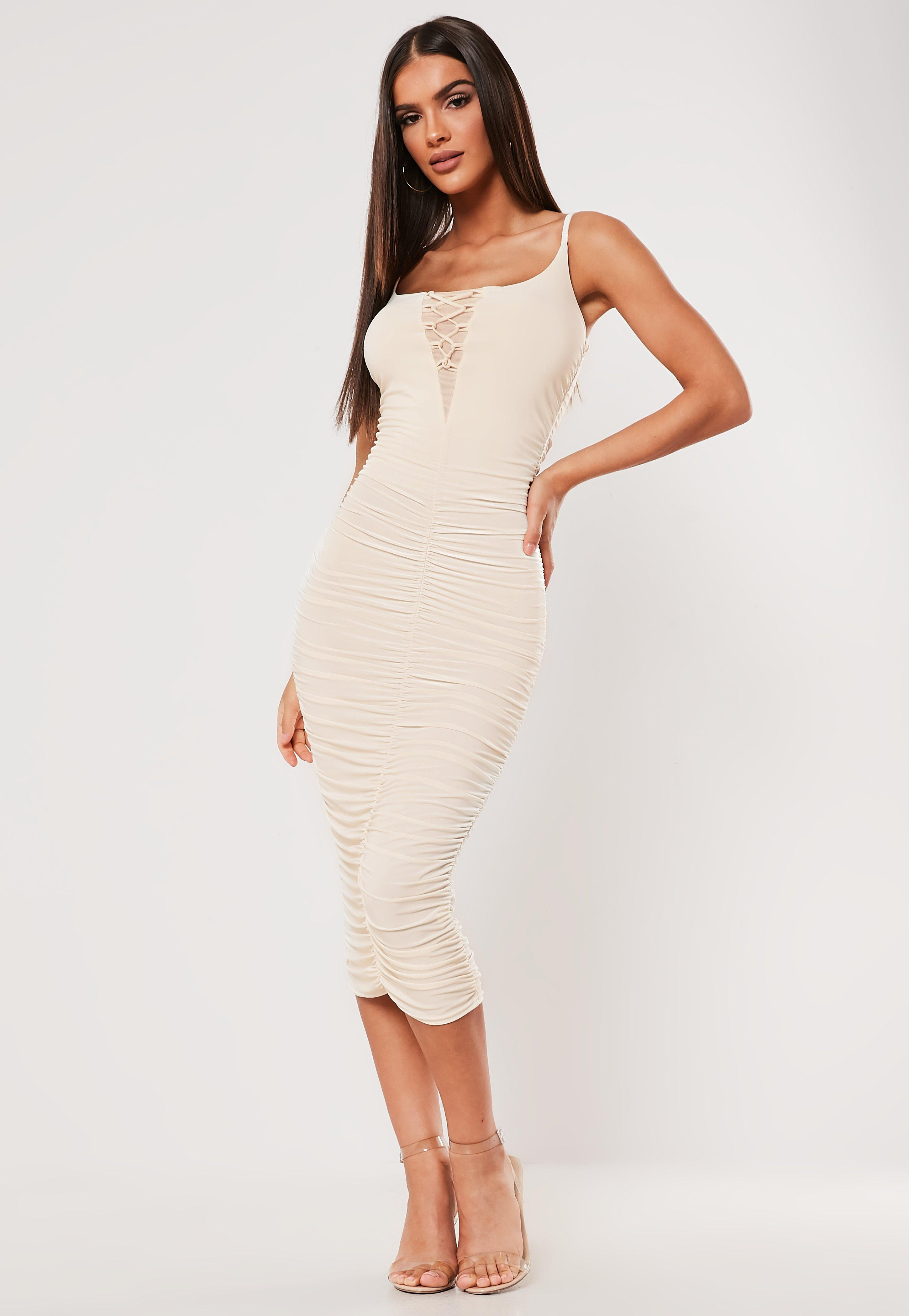 e811a11b25 Midi Dresses UK | Knee Length Dresses | Missguided