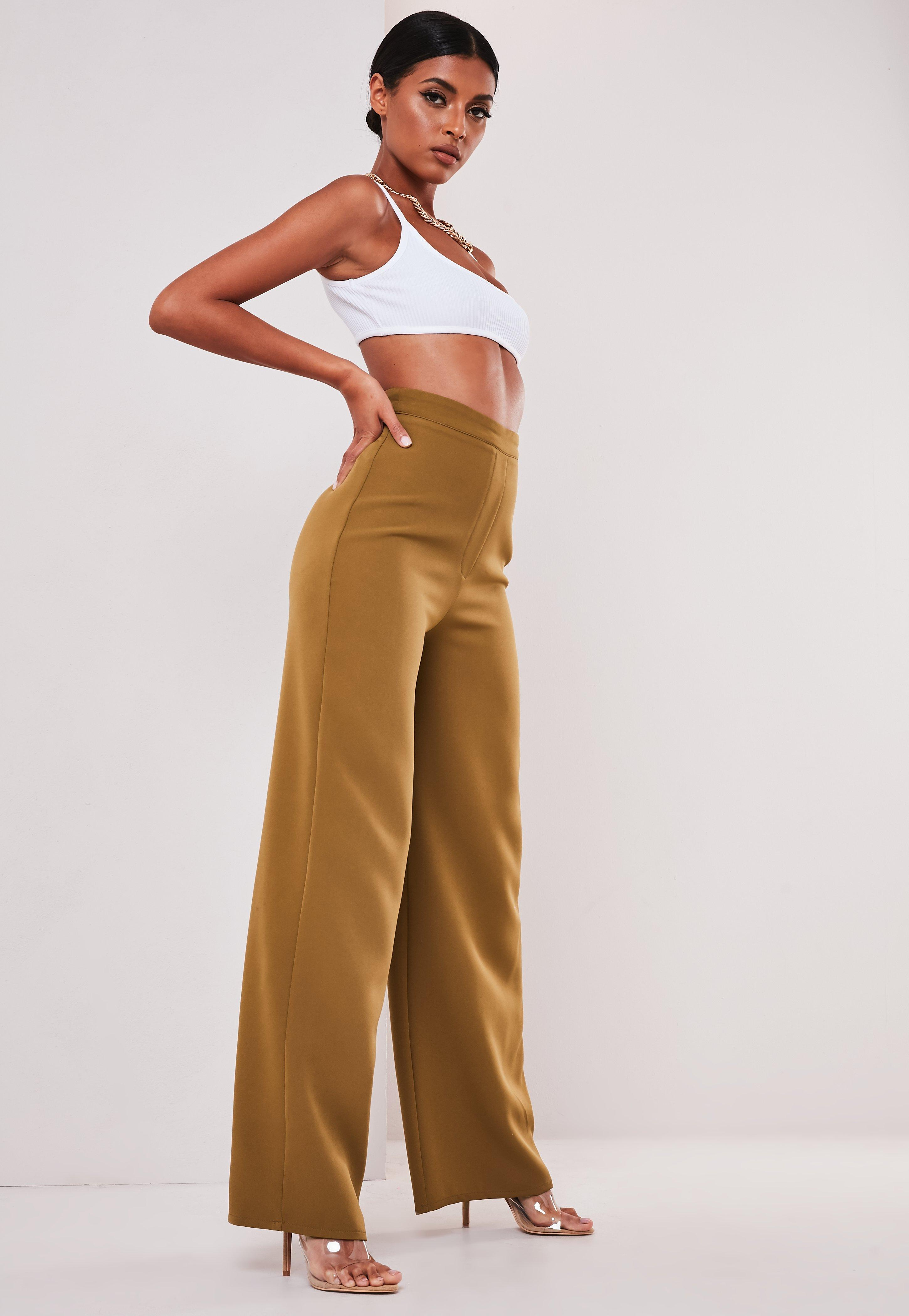 popular brand los angeles best website Sofia Richie x Missguided Taupe Tailored Wide Leg Trousers ...