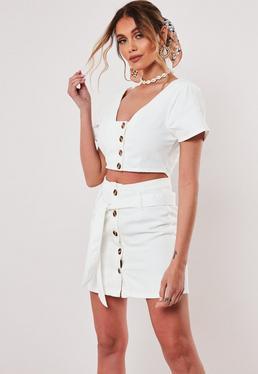 ece0a52fd Denim Skirts   White & Black Denim Skirt   Missguided