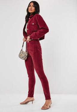 Berry Co Ord Sinner High Waisted Cord Jeans