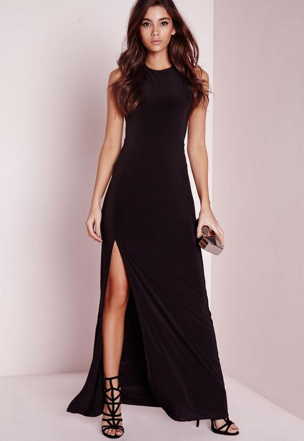 Slinky Side Split Maxi Dress Black. Order today & shop it like it's hot at Missguided. Slip into this slinky number this season for a seriously seductive shopnow-ahoqsxpv.ga: Missguided.