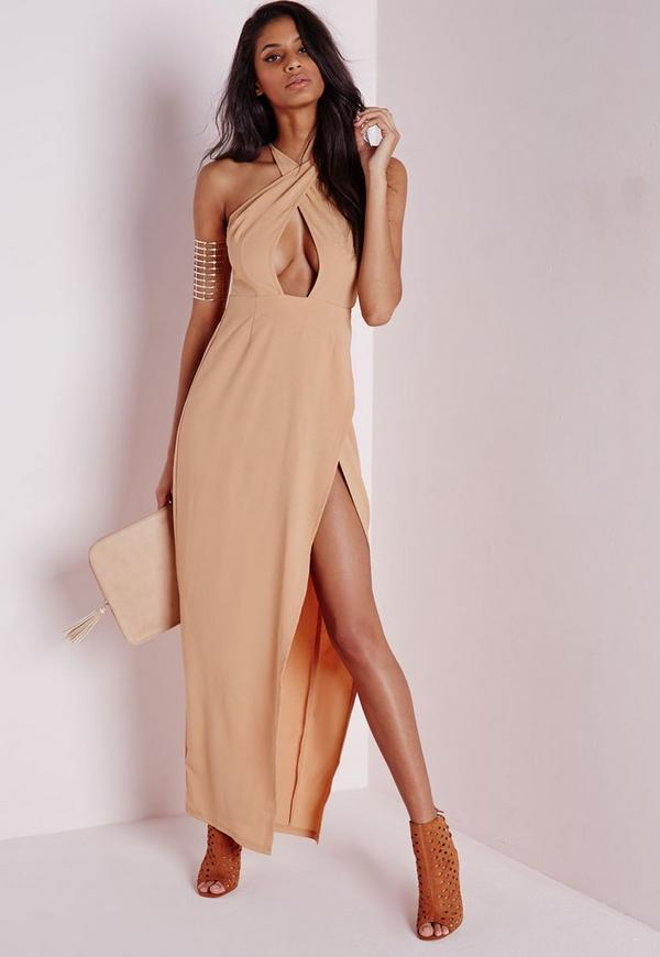 Wrap Maxi Dress Camel