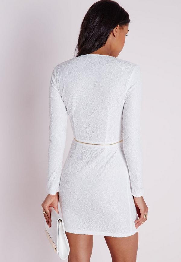 Long dress white valve bodycon sleeve style