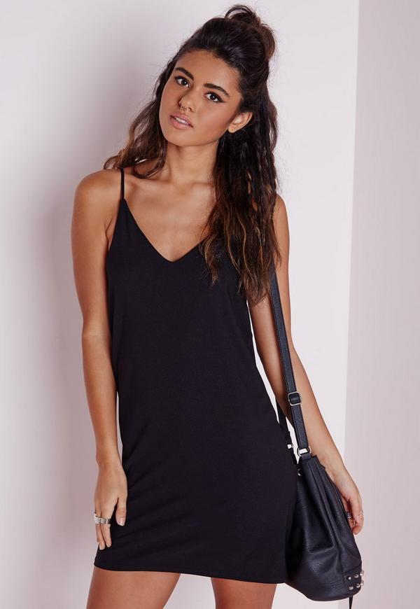 Black cami dress