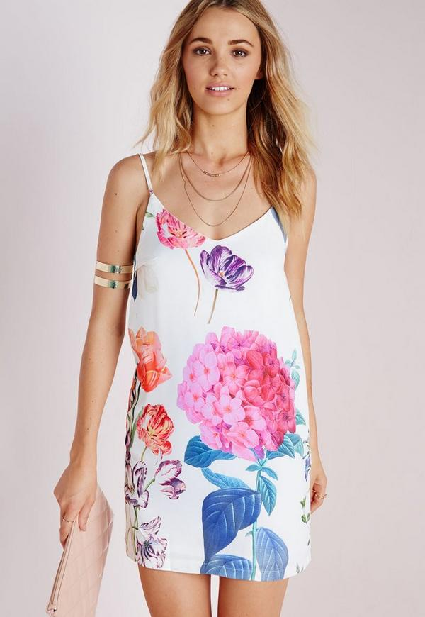 Crepe Strappy Cami Dress Botanical Floral