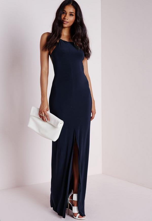 Slinky Maxi Dress Navy