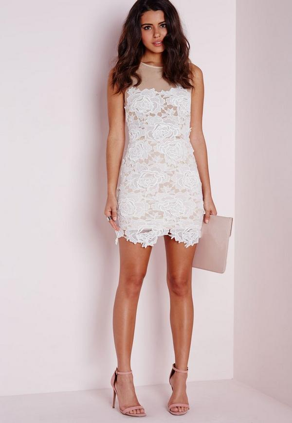 Sleeveless floral lace mesh mini dress white missguided sleeveless floral lace mesh mini dress white previous next mightylinksfo