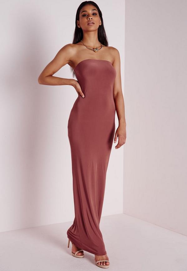 Slinky Tube Dress Dark Pink