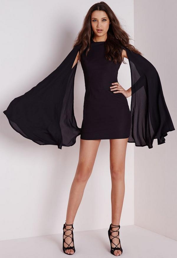 Galerry black flared dress uk