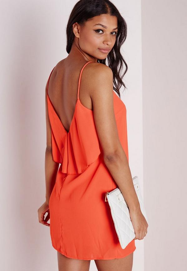 Chiffon Floaty Cami Dress Orange