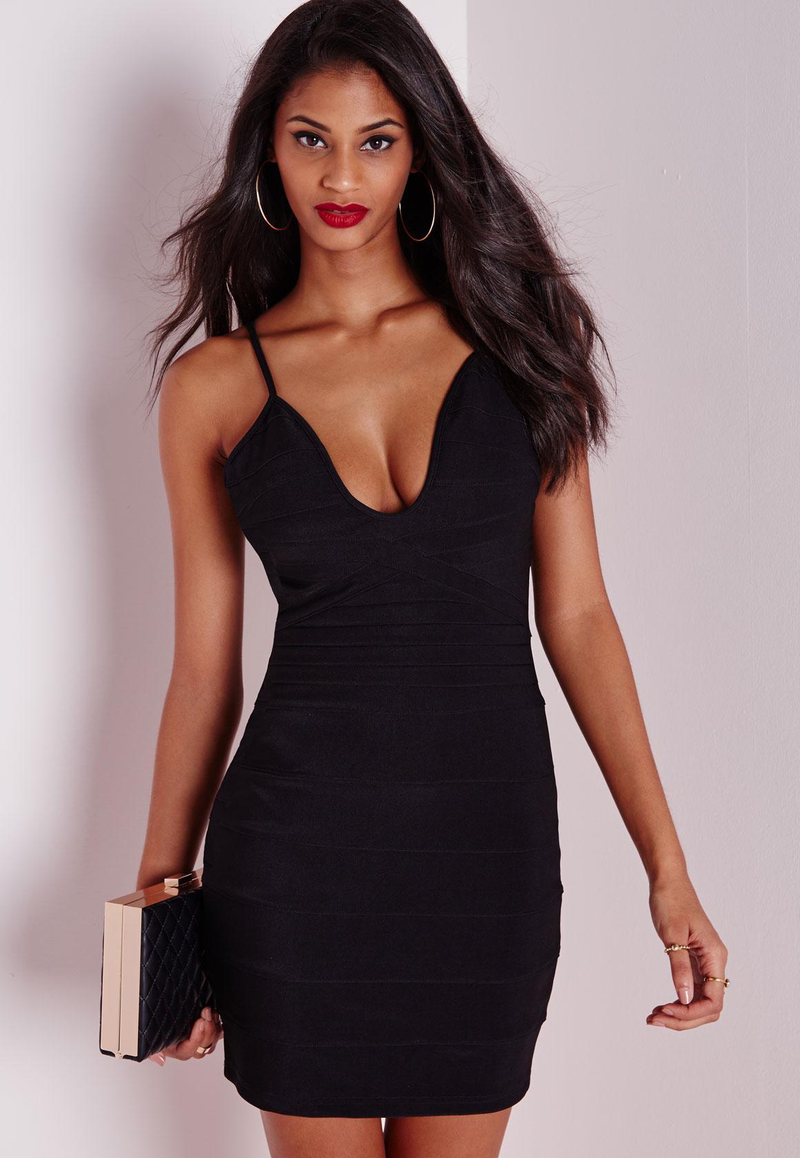 3f914b840d Bandage Strappy Bodycon Dress Black