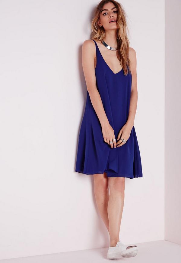 Floaty Cami Dress Blue