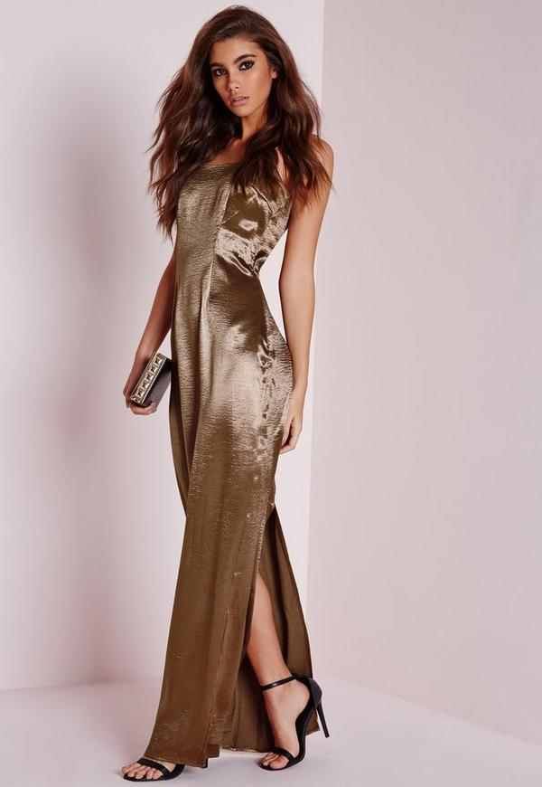 Silky Low Back Maxi Dress Copper