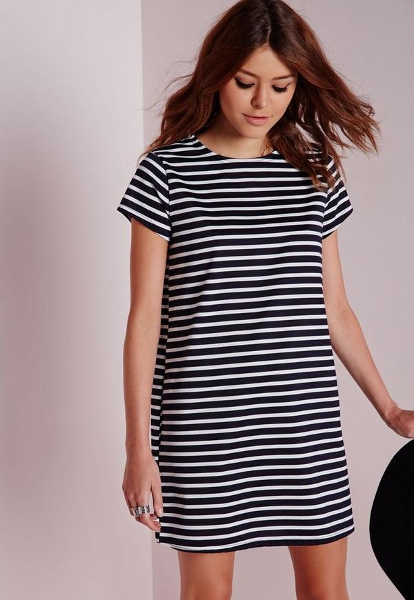 Navy and White Striped Dress Amazoncom