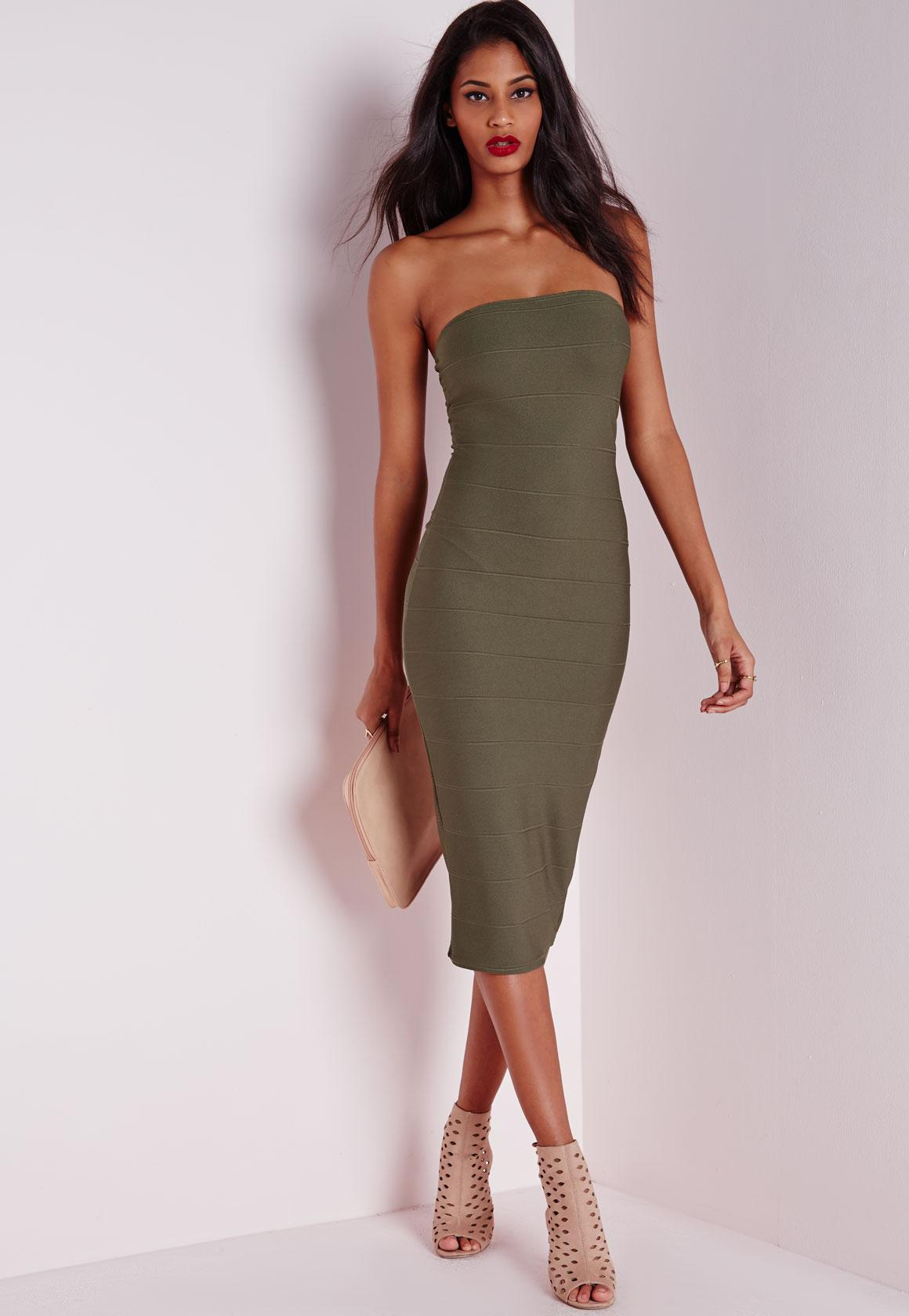 Bandeau & Strapless Dresses Online - Missguided