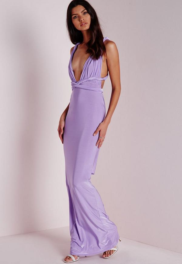 b509ea77b0 Do It Any Way Multiway Slinky Maxi Dress Purple. Was €34.00. Now €17.00  (52% off). Previous Next