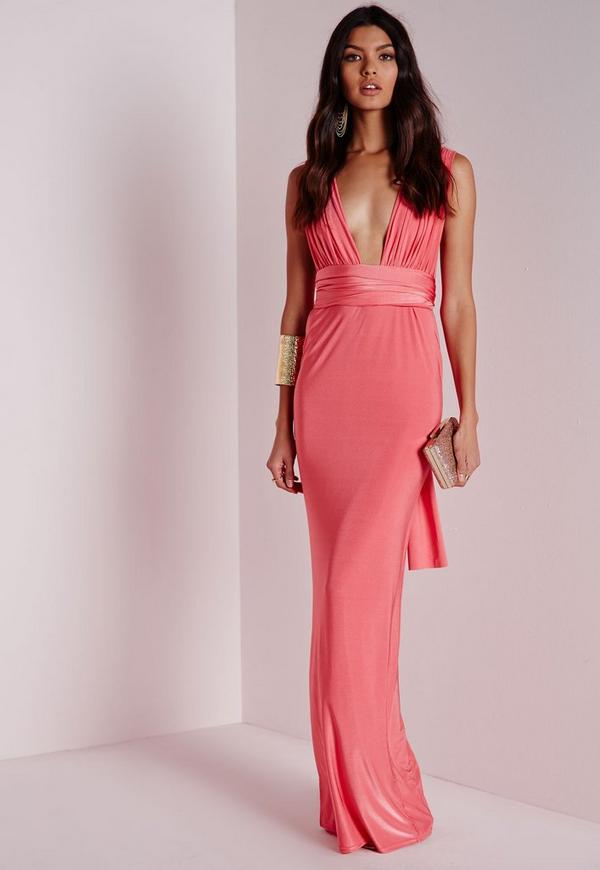 Do It Any Way Multiway Maxi Dress Pink