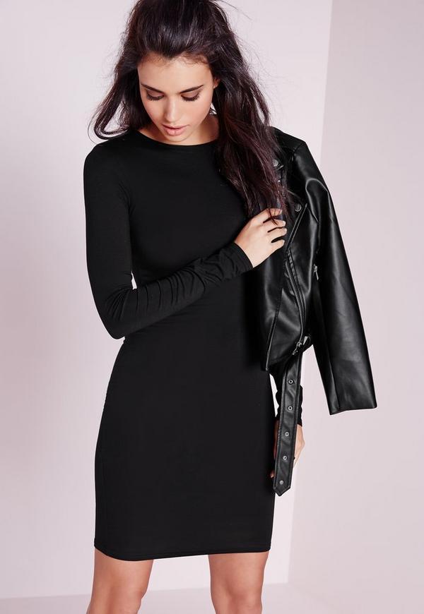 Robe courte noir et or