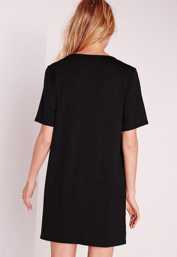 lot de 2 robes t shirt en jersey camel noir missguided. Black Bedroom Furniture Sets. Home Design Ideas
