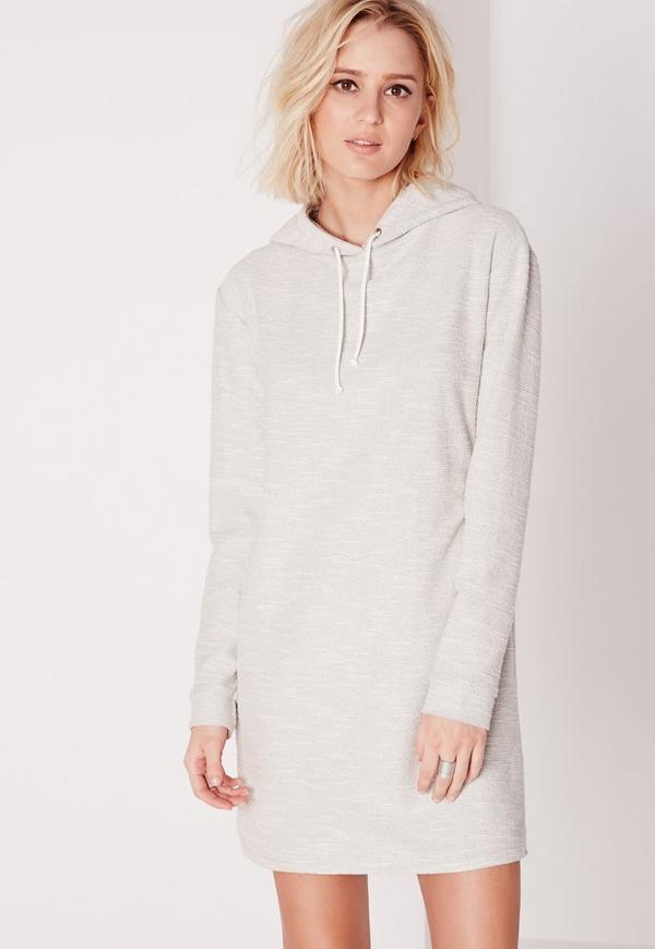 robe pull grise avec manches longues et capuche missguided. Black Bedroom Furniture Sets. Home Design Ideas