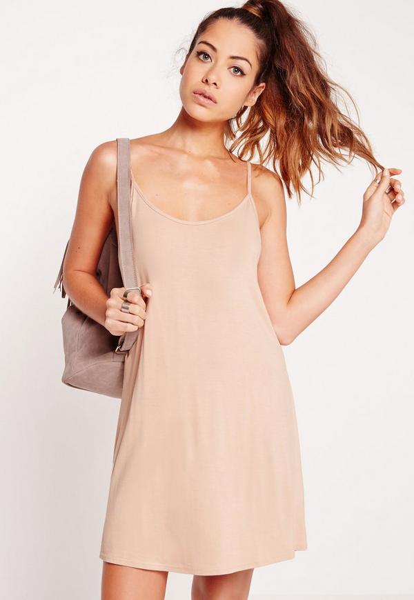 Strappy Swing Dress Nude