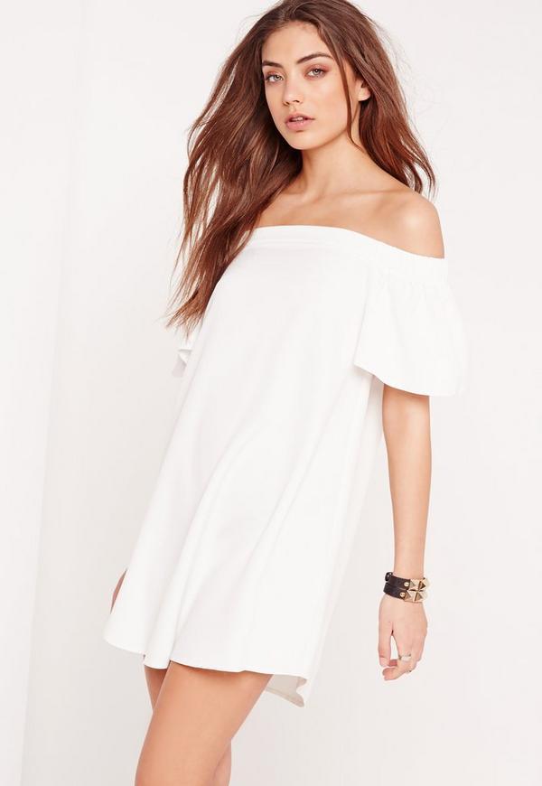 Bardot Shift Dress White