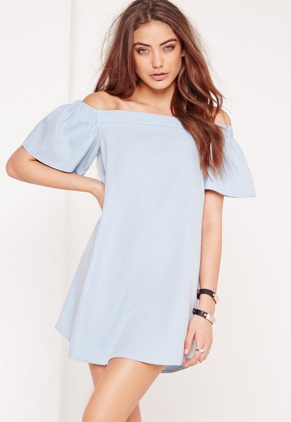 Bardot Shift Dress Blue