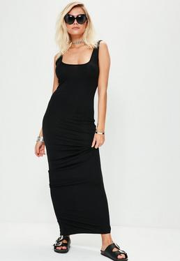 Vestido largo sin mangas en negro