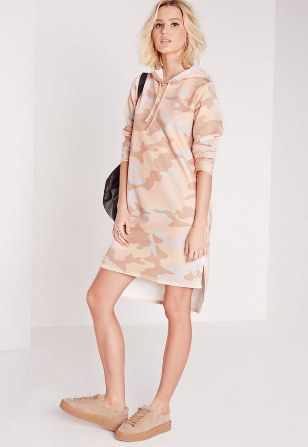Hooded Sweat Dress Rose Camo
