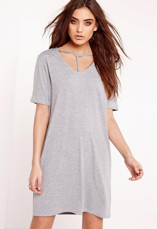 Harness T-Shirt Dress Grey
