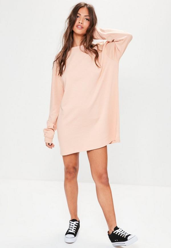 Oversized Sweater Dress Nude | Missguided