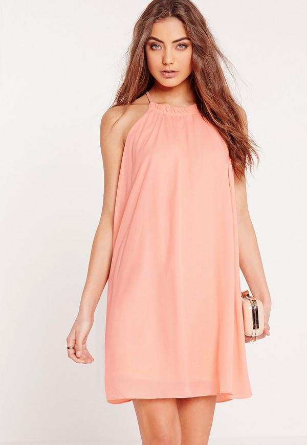 Swing Woven Dress Pink