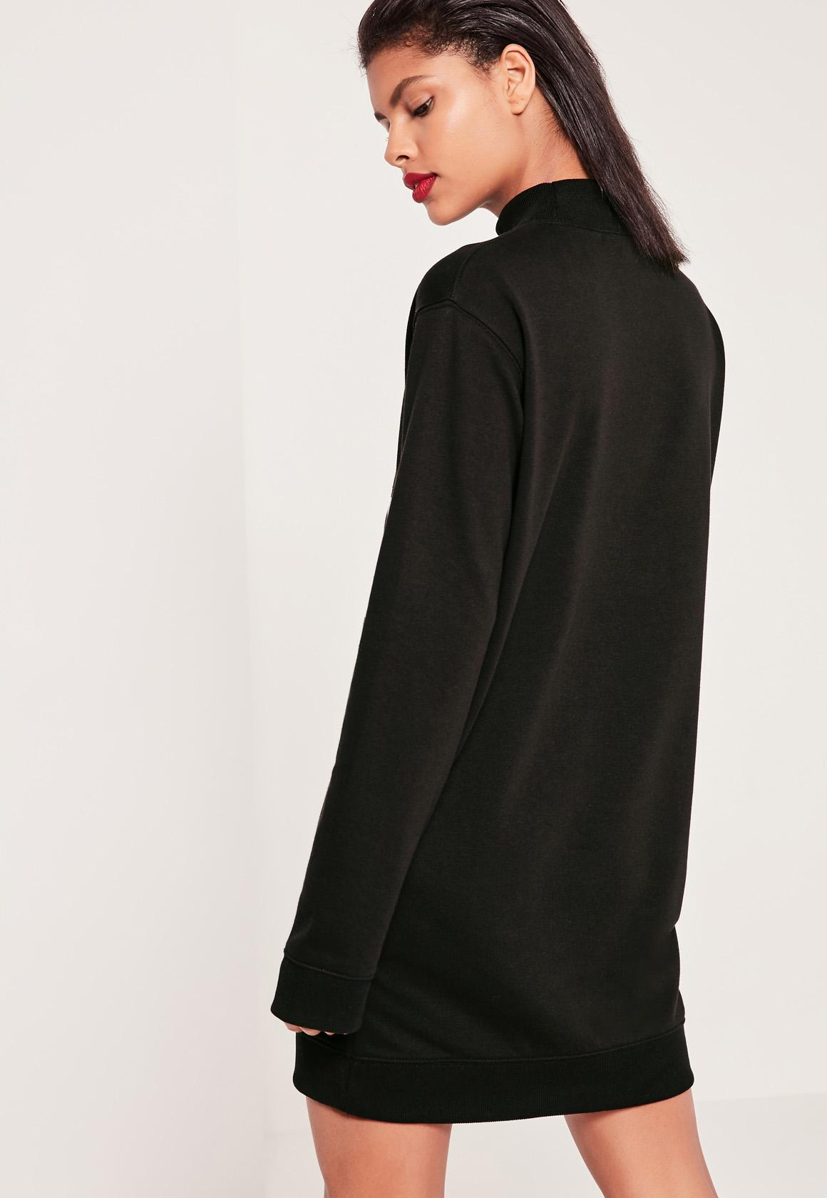 Black Tokyo Graphic Sweater Dress