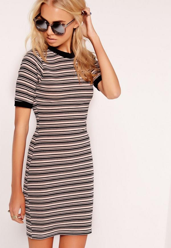 Stripe Bodycon Dress Multi