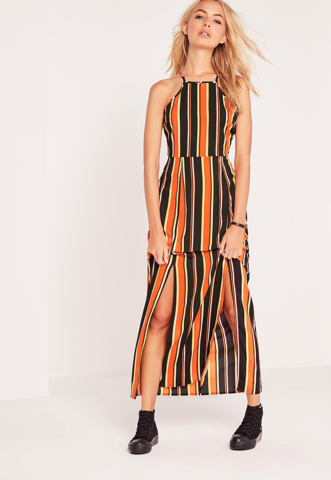 Bright Stripe Maxi Dress Multi | Missguided