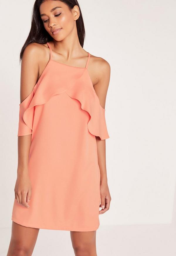 Frill Front Cami Dress Pink