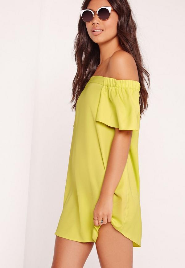 Bardot Shift Dress Green