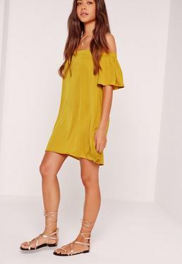 Bardot Swing Dress Chartreuse Green