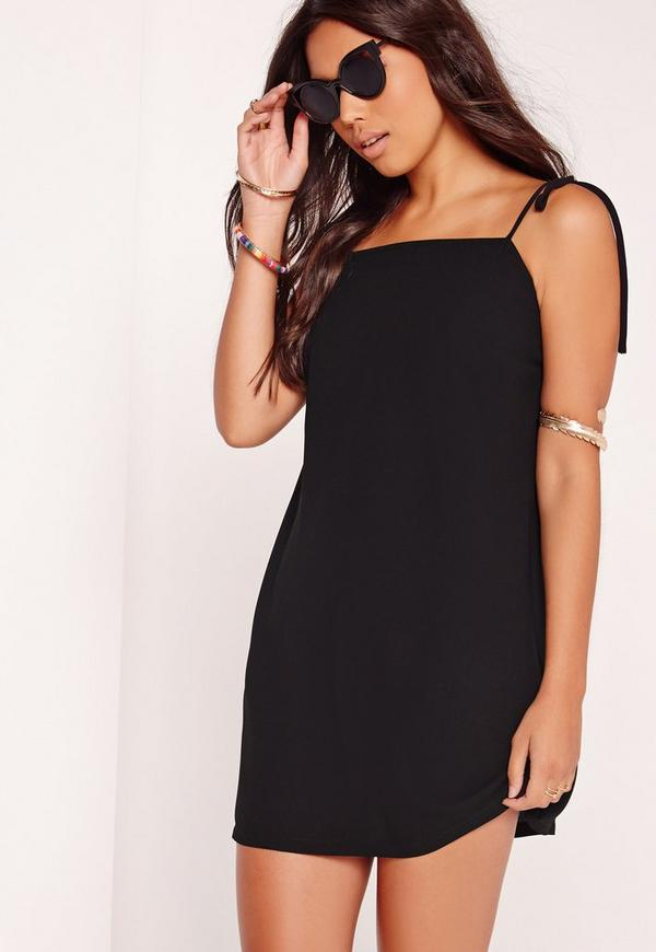 Tie Strap Cami Dress Black