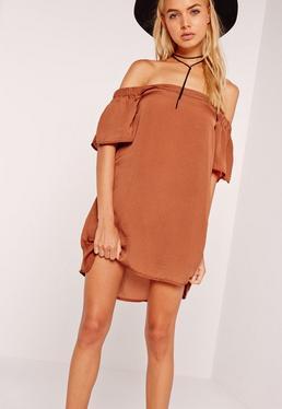 Bardot Swing Dress Tan