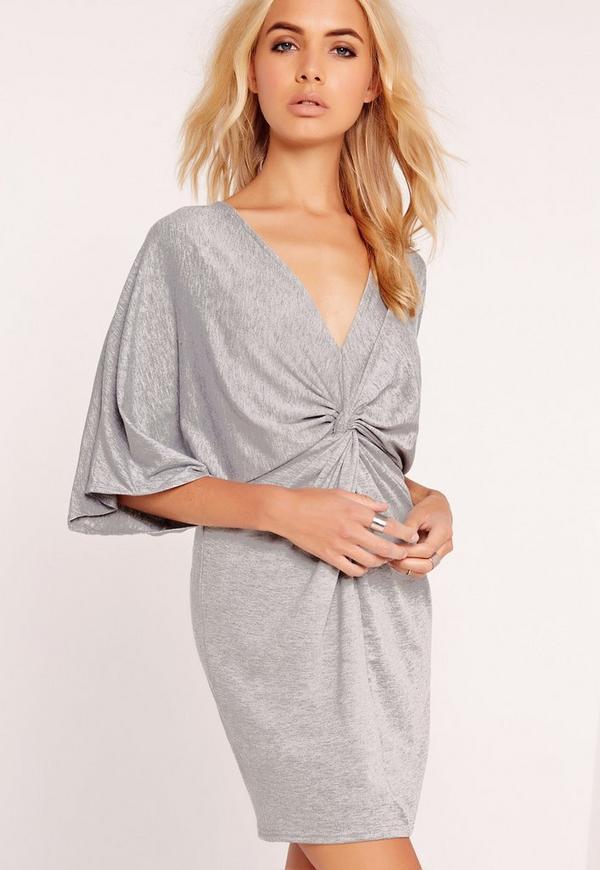 Wrap Mini Dress Grey