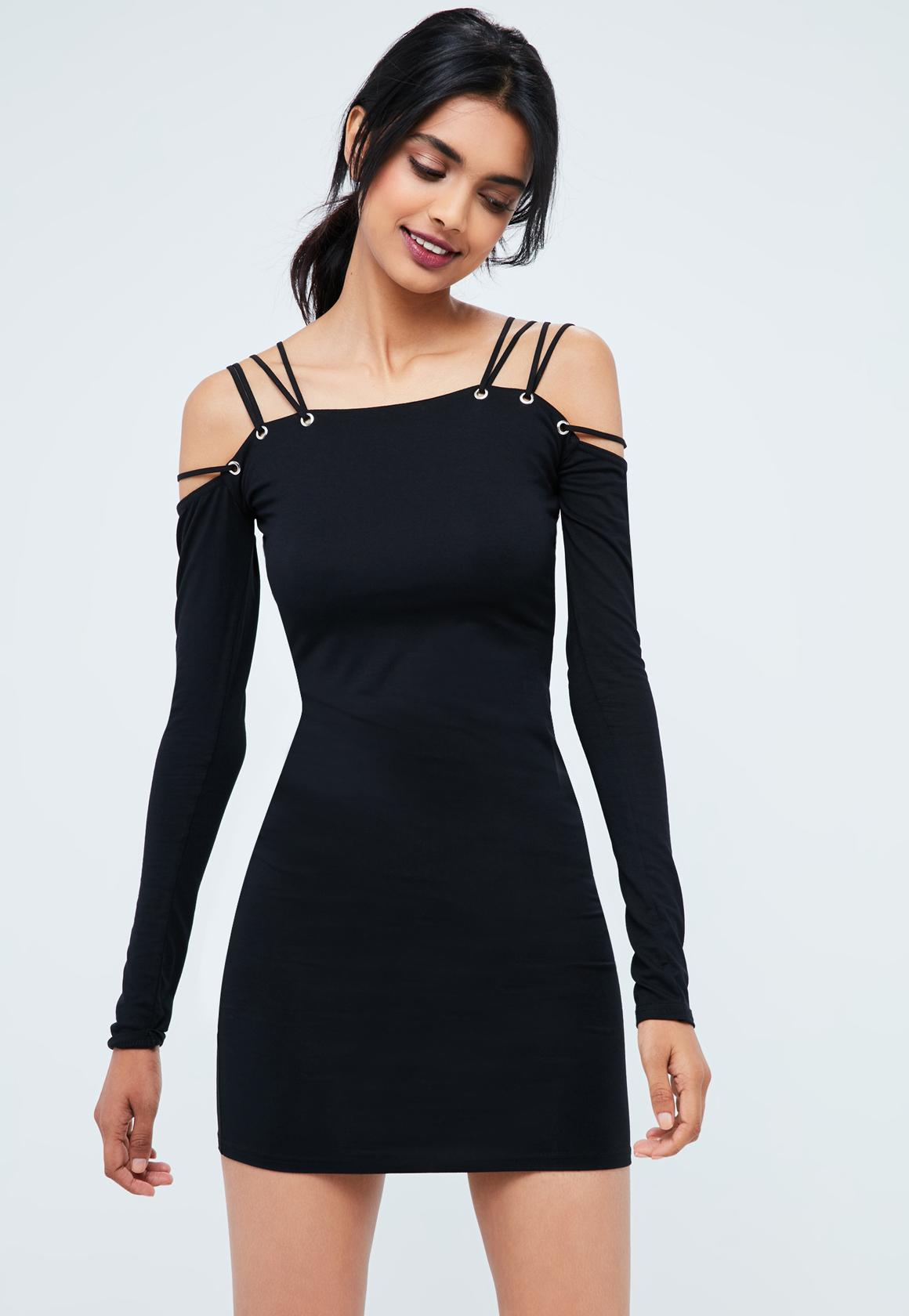 Missguided Strappy bardot dress Clearance Pay With Paypal Clearance Brand New Unisex Discount Huge Surprise Reliable Online Discount Original rYH7W