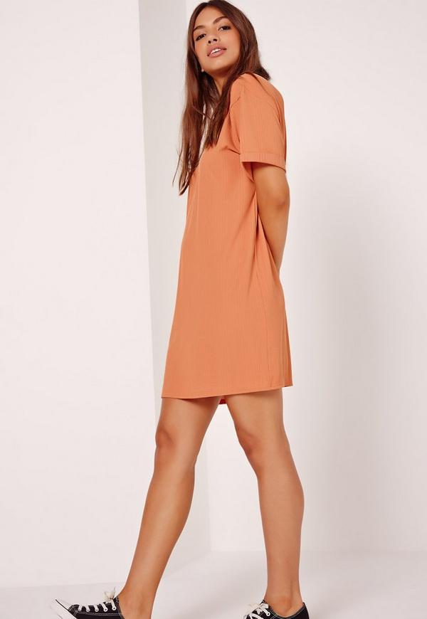 Oversized T-Shirt Dress Orange
