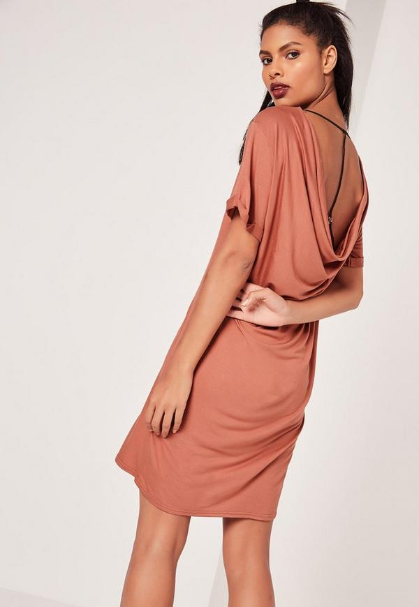 Scoop Harness Back Dress Pink