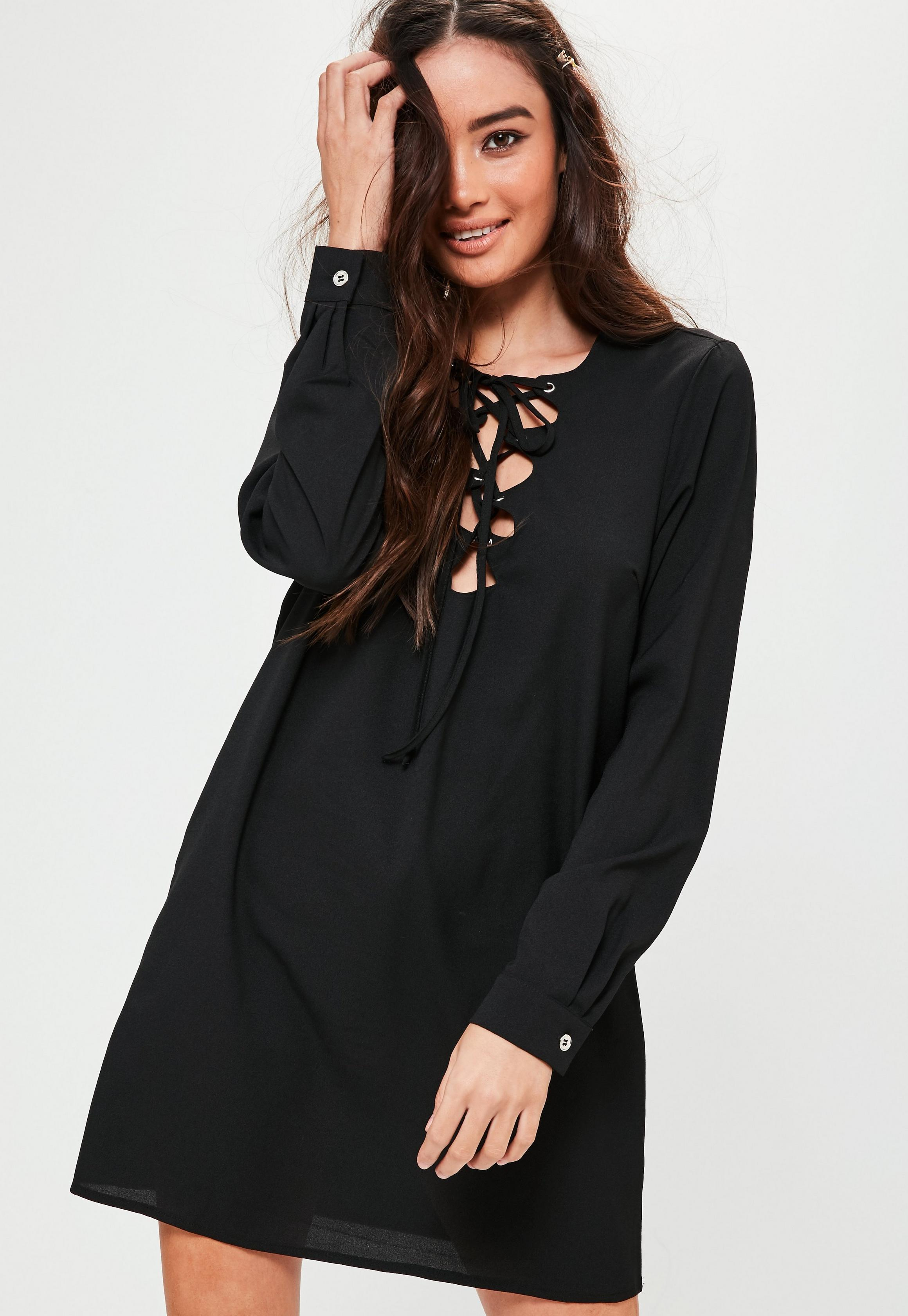Robe missguided lacets