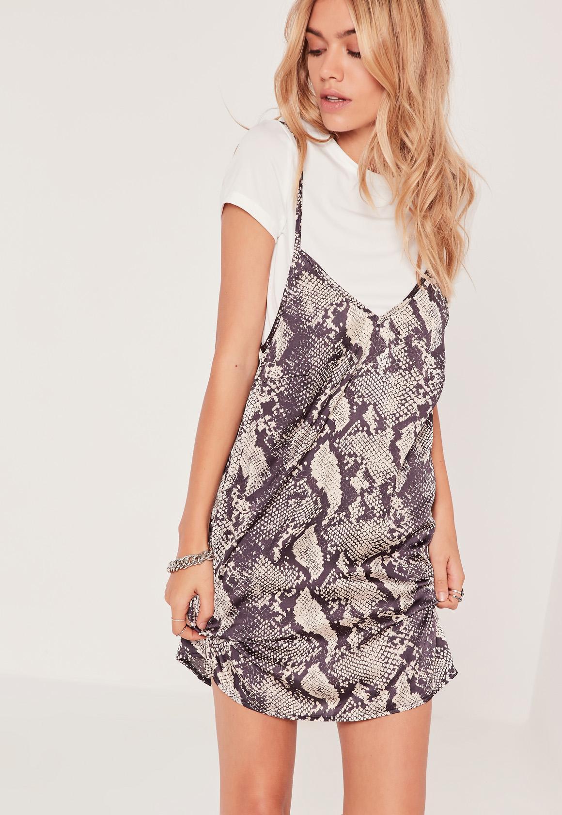 Snake Print 2 in 1 Mini Dress